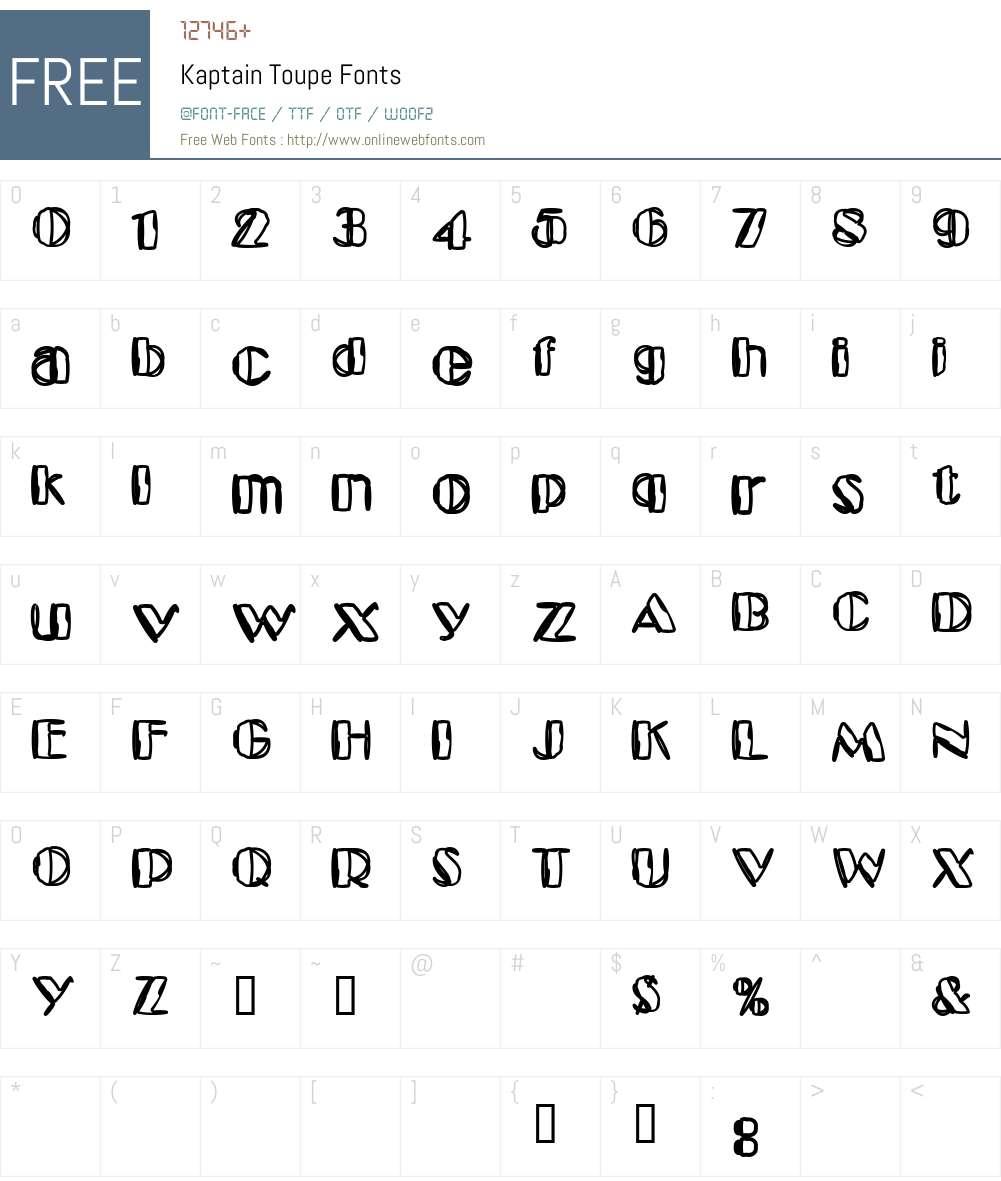 Kaptain Toupe Font Screenshots