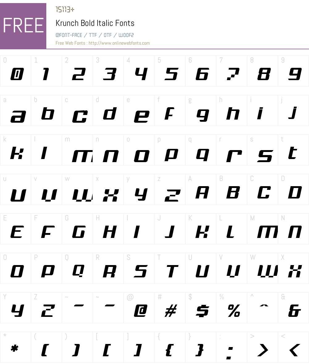 Krunch Font Screenshots