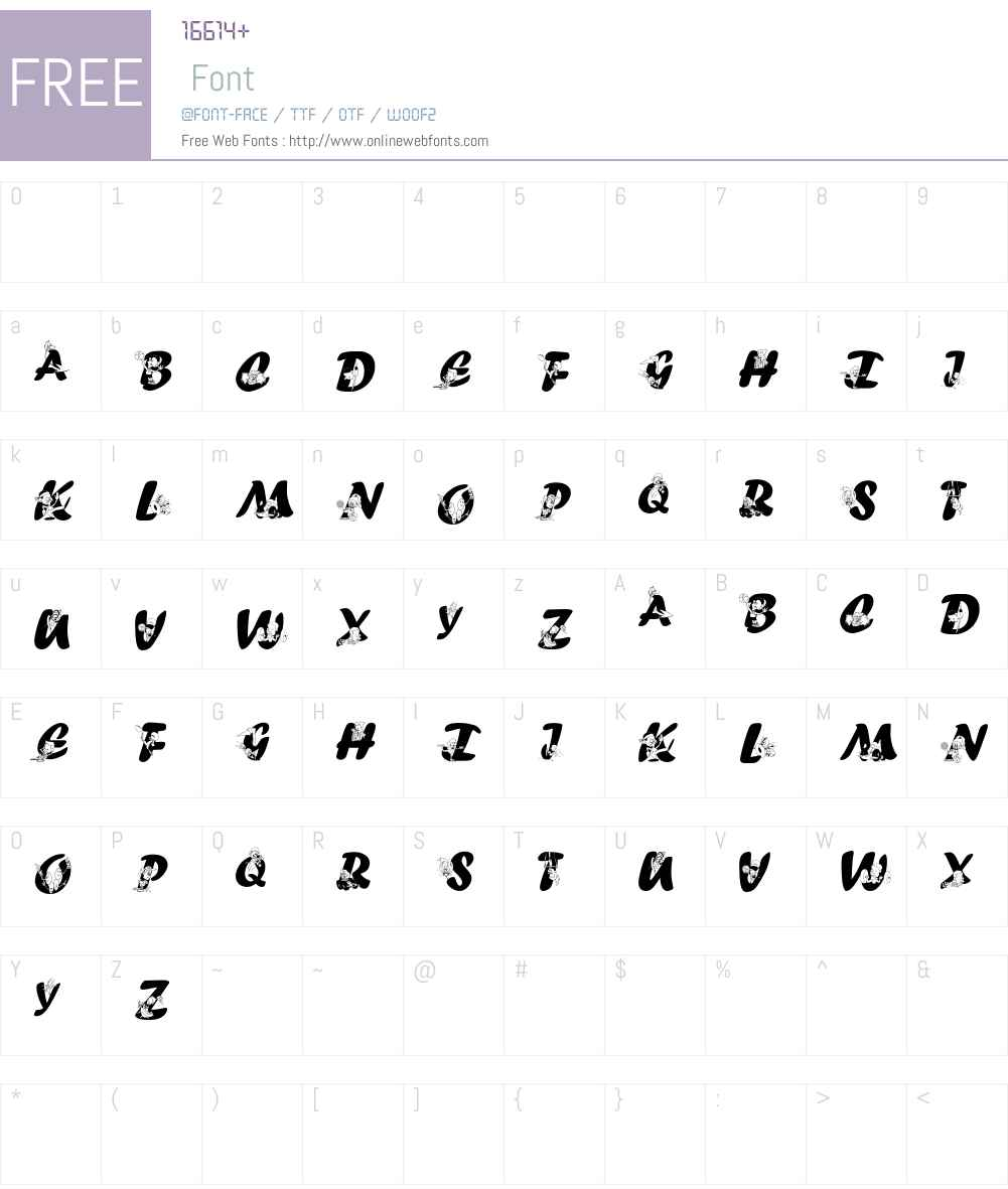 SportsABC Font Screenshots