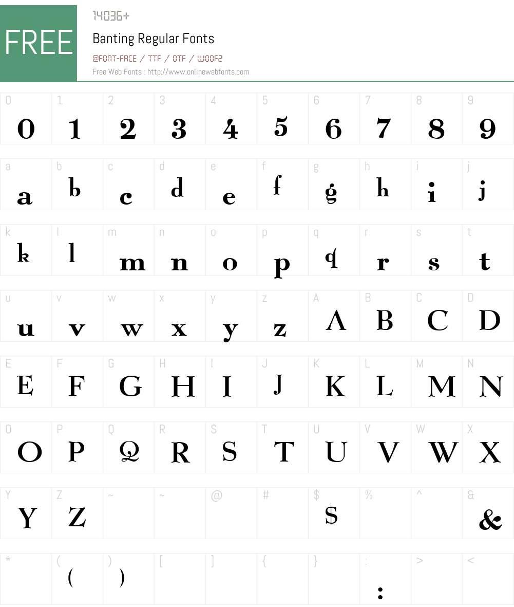 Banting Font Screenshots