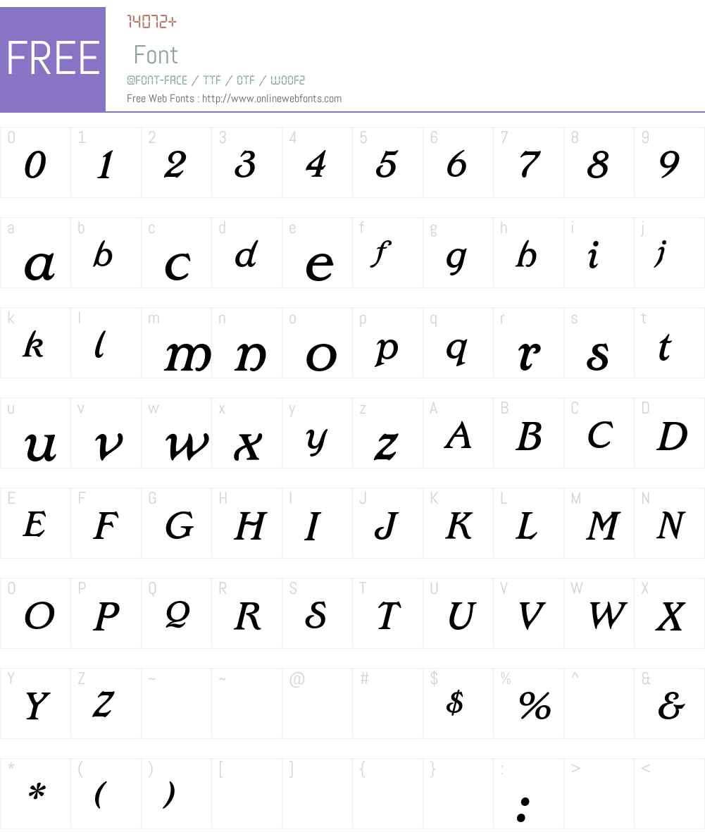 EdwardianEF Font Screenshots