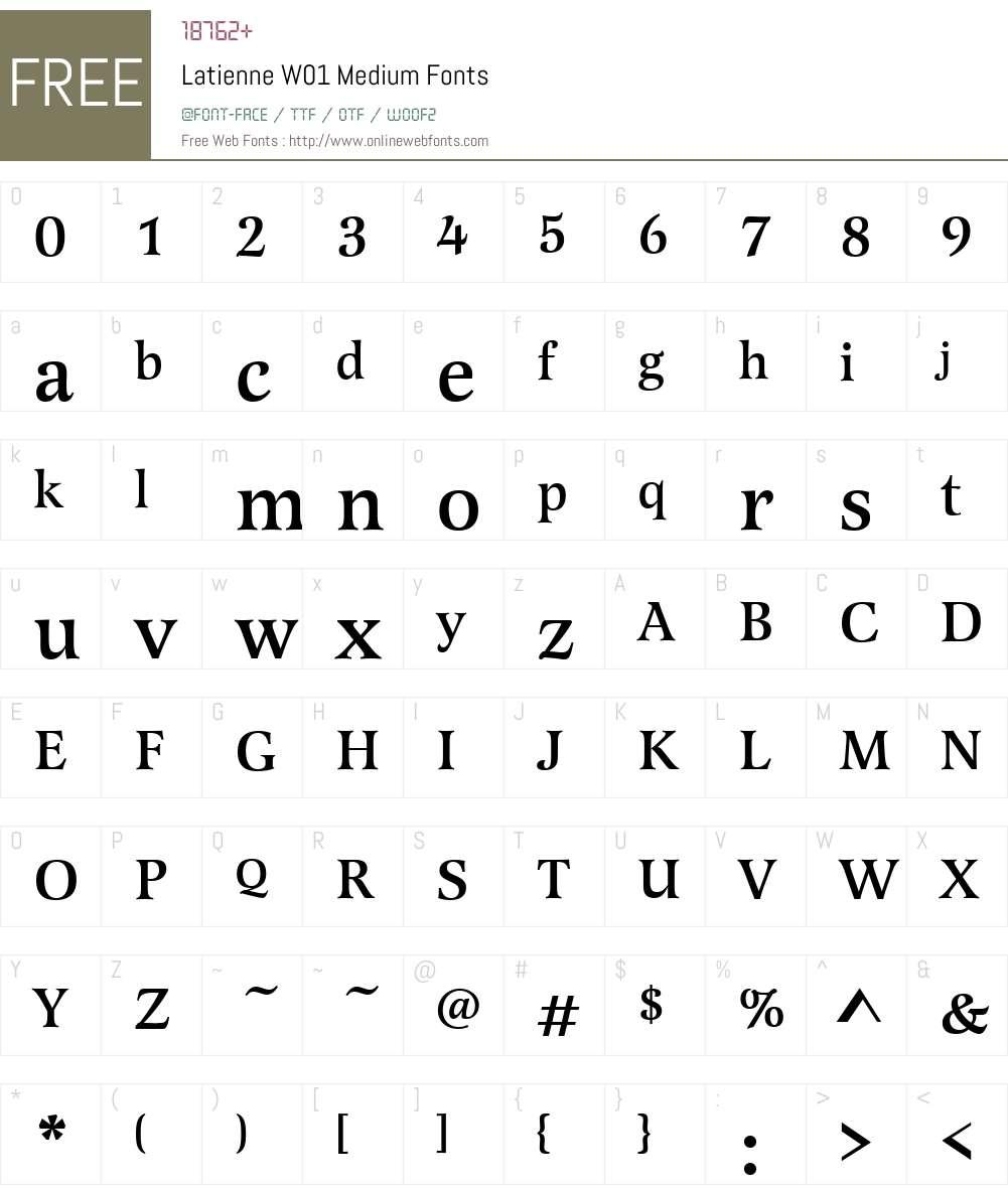 LatienneW01-Medium Font Screenshots