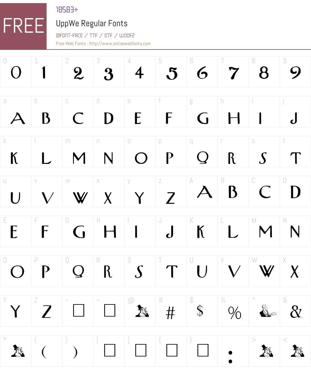 UppWe Font Screenshots