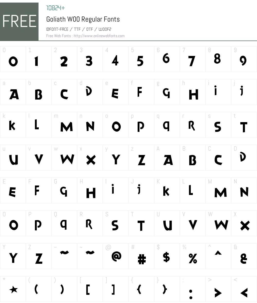 GoliathW00-Regular Font Screenshots