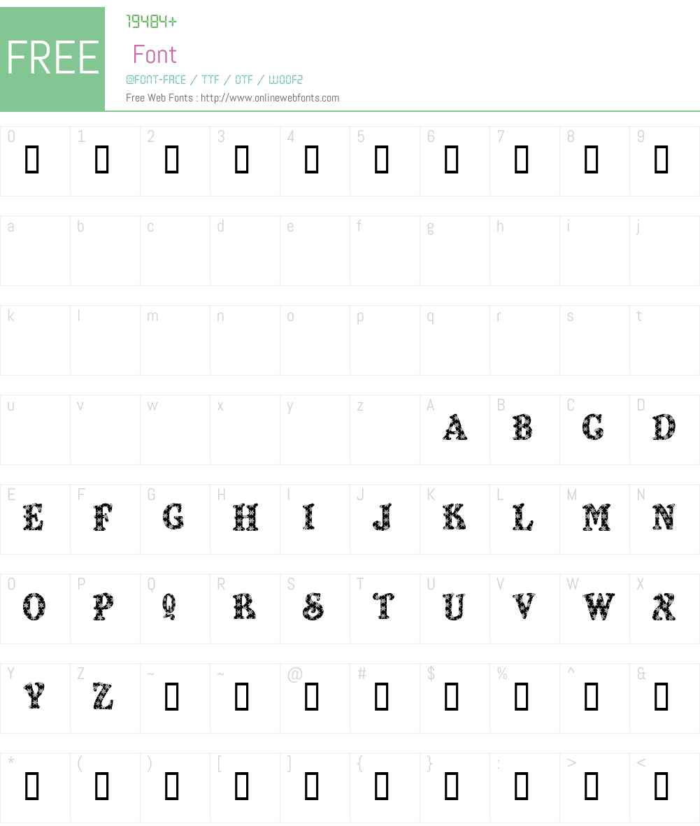 Kiddy Flakey Font Screenshots
