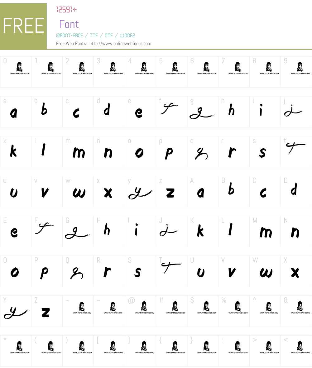 Welcome Font Screenshots