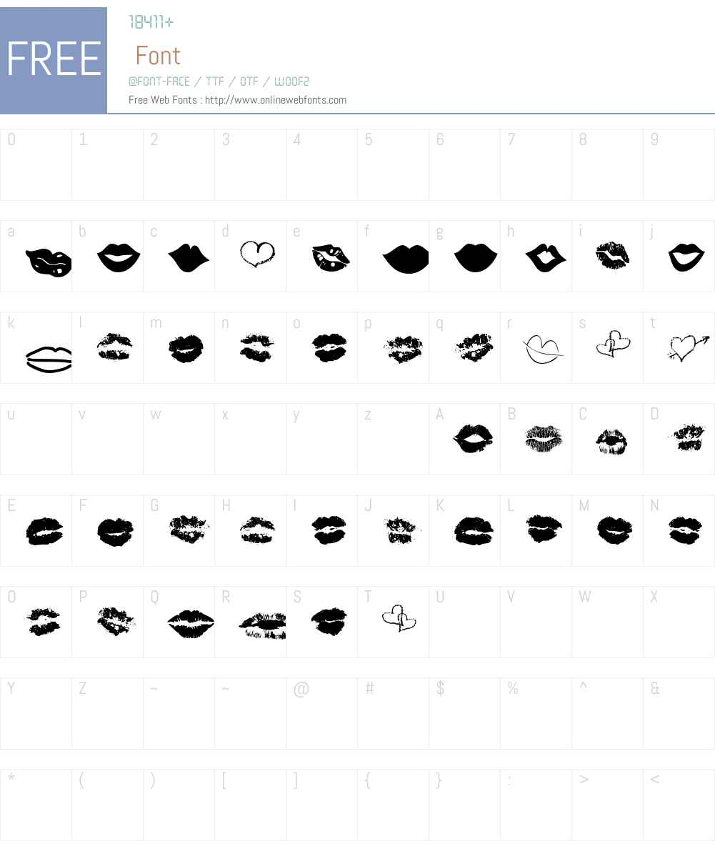 LipstickExtrasW90-Regular Font Screenshots
