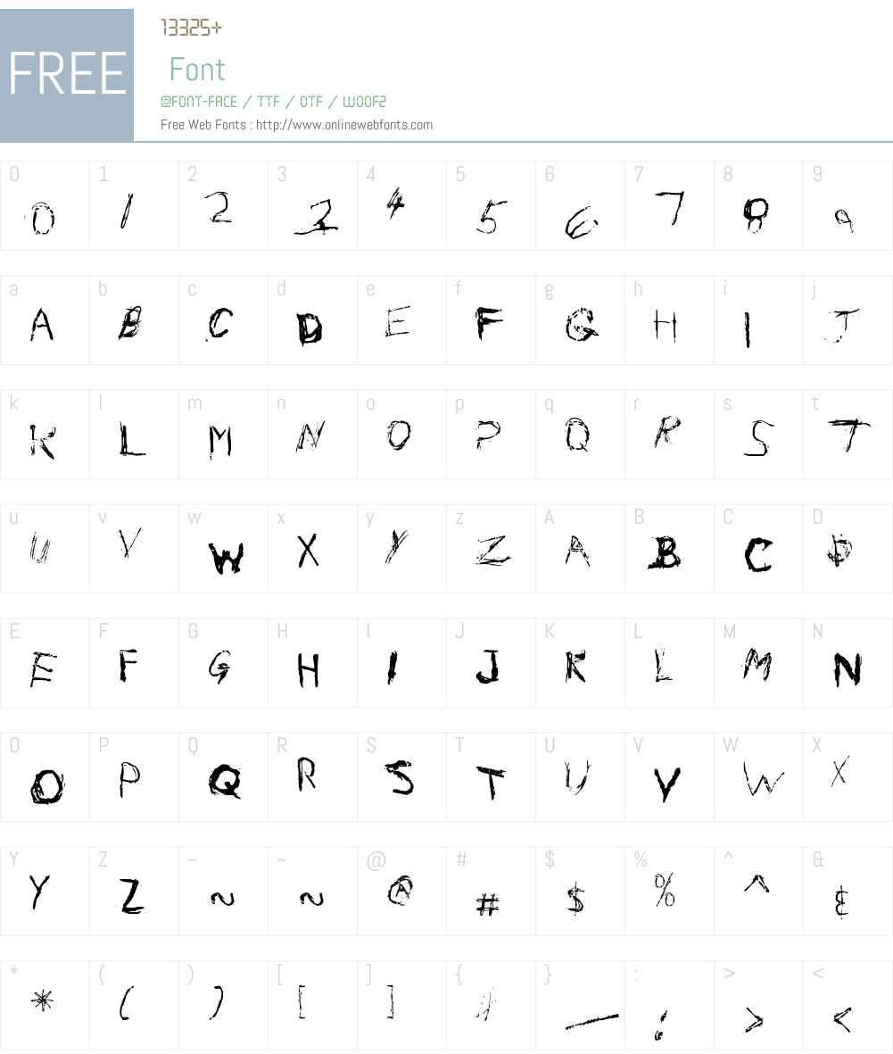 Nail Scratch Font Screenshots