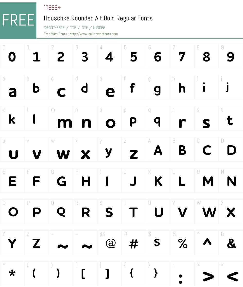Houschka Rounded Alt Bold Font Screenshots