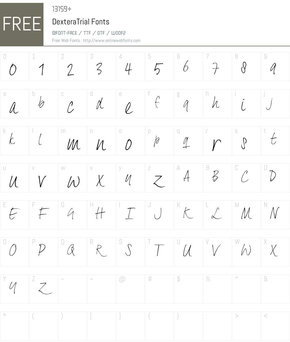 DexteraTrial Font Screenshots