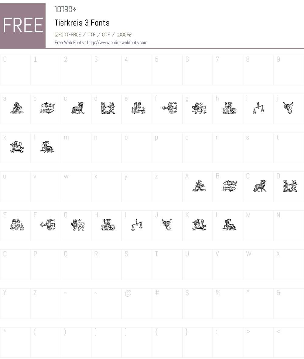 Tierkreis 3 Font Screenshots