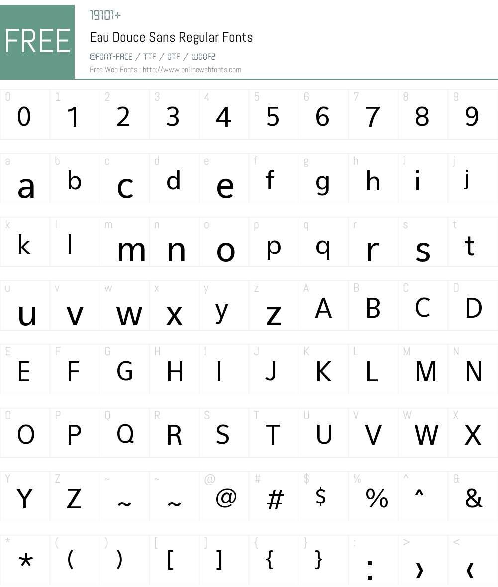 Eau Douce Font Screenshots