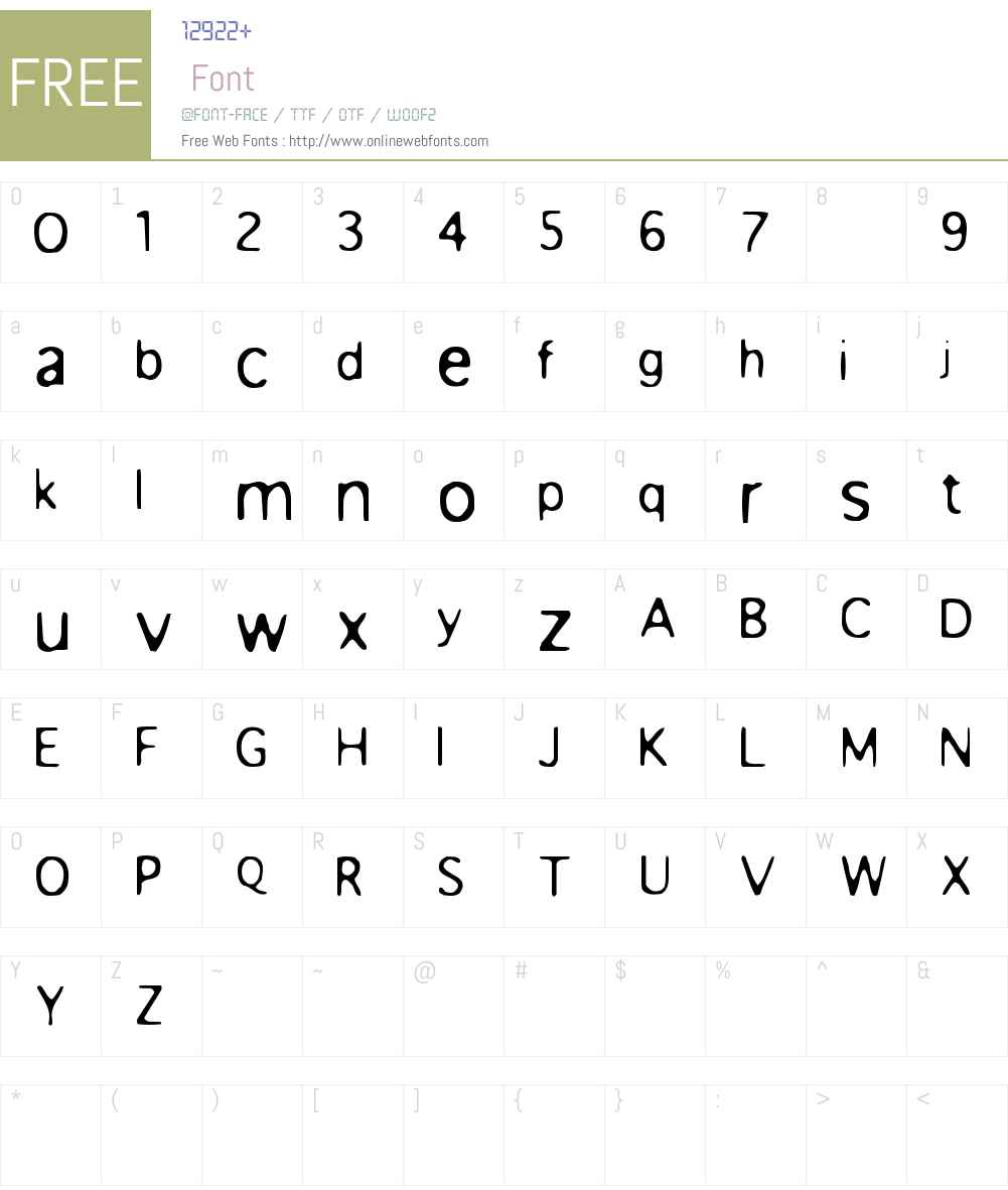 Anorexia Font Screenshots