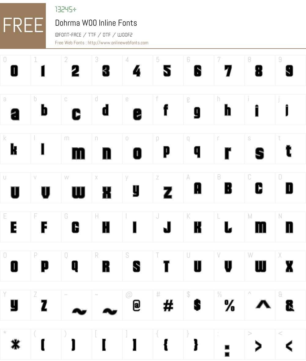 DohrmaW00-Inline Font Screenshots