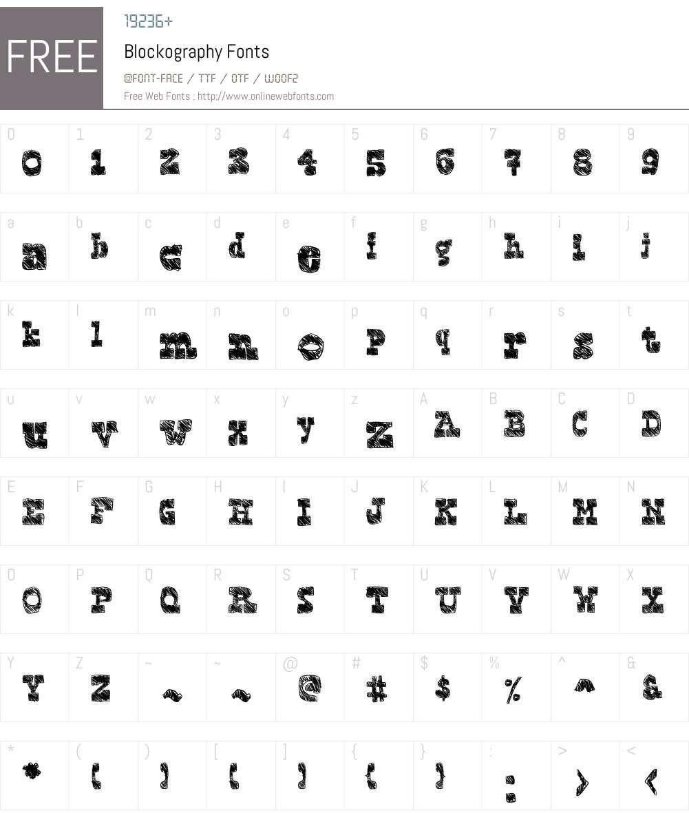 Blockography Font Screenshots