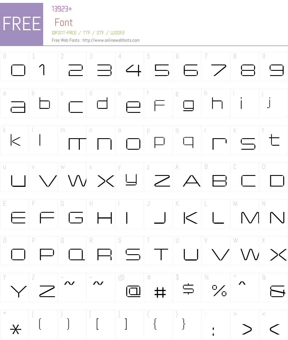 Changeling Font Screenshots