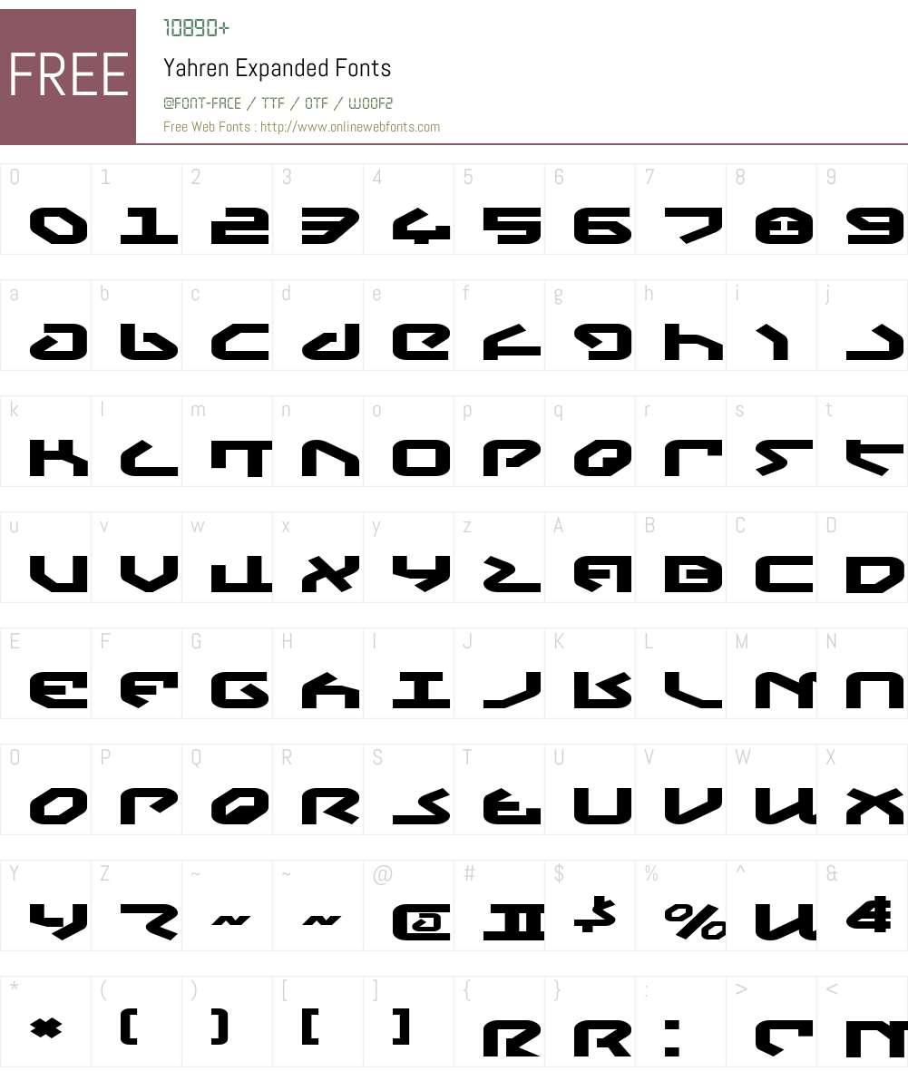 Yahren Expanded Font Screenshots