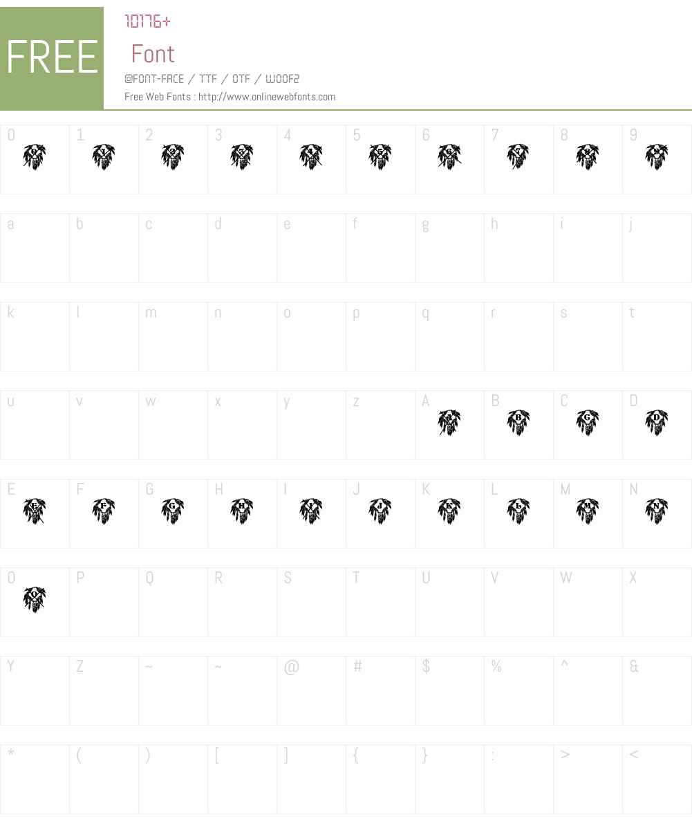 WWShieldsADemo Font Screenshots