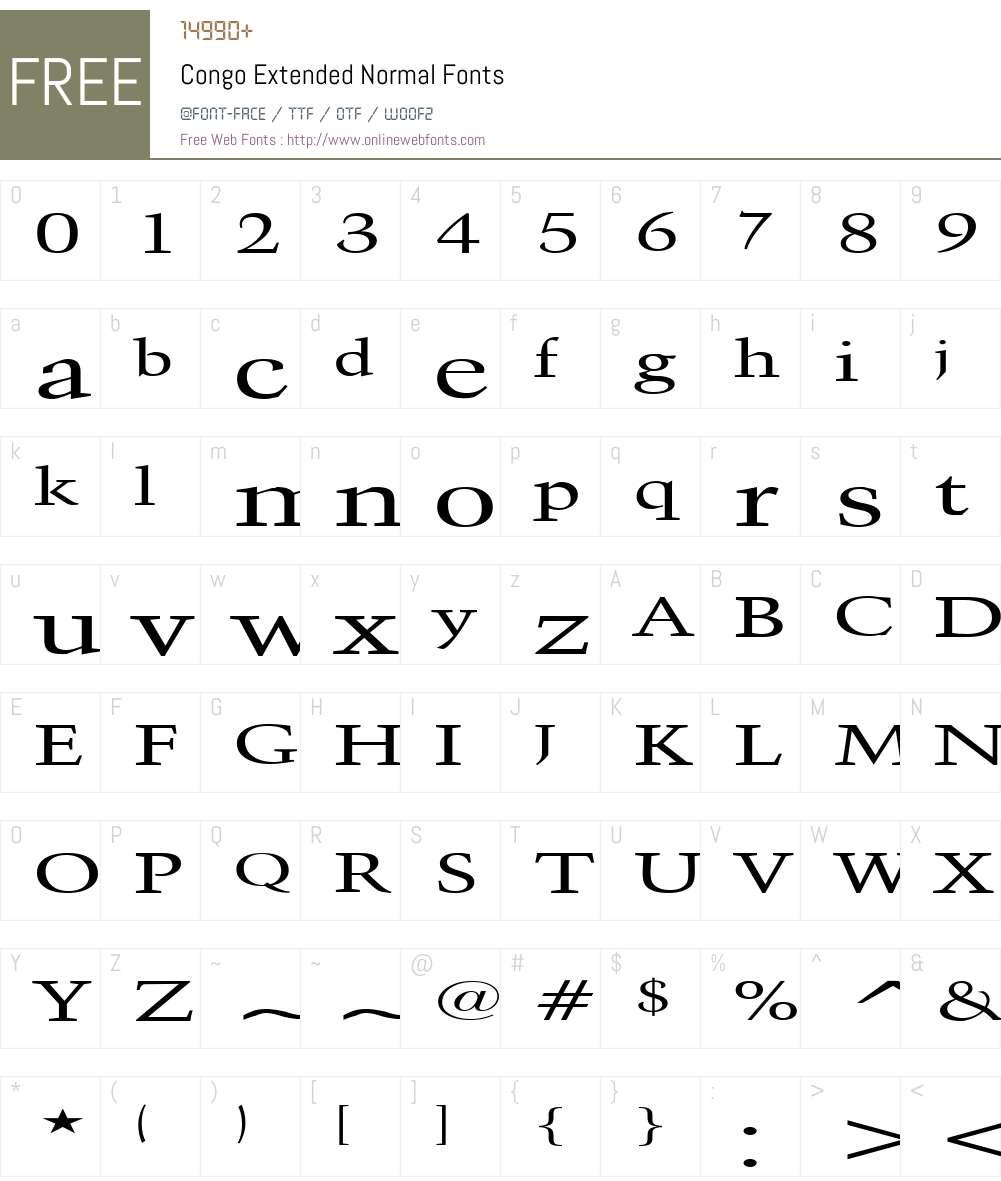 Congo Extended Font Screenshots