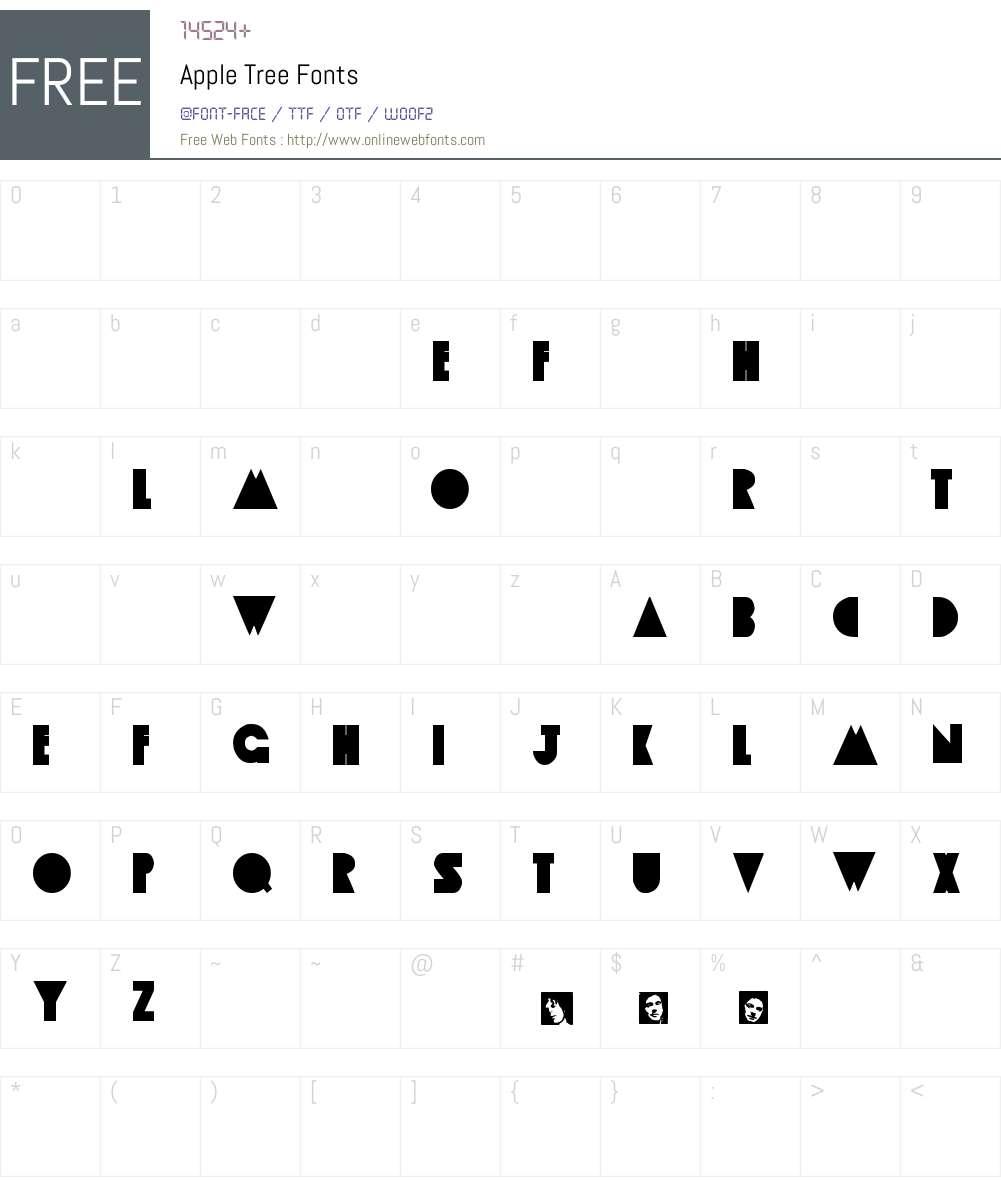 Apple Tree Font Screenshots