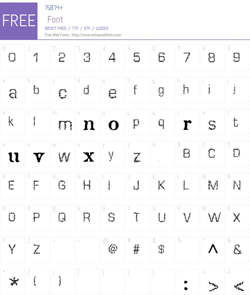 Mosaique Font Screenshots
