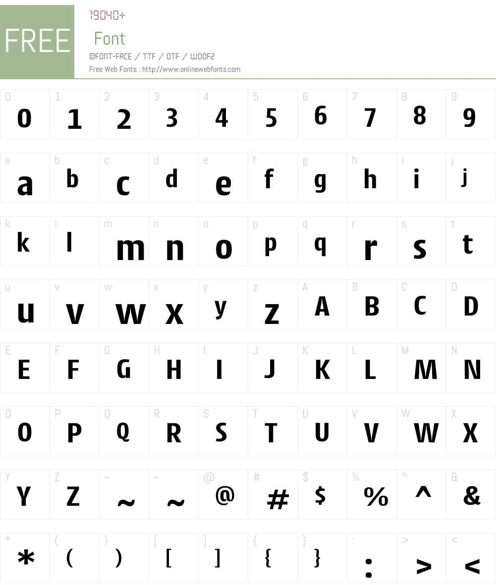 CantigaW01-Bold Font Screenshots
