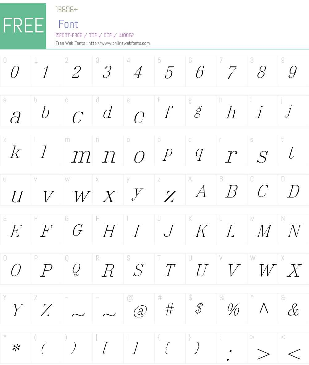 Roemisch Font Screenshots