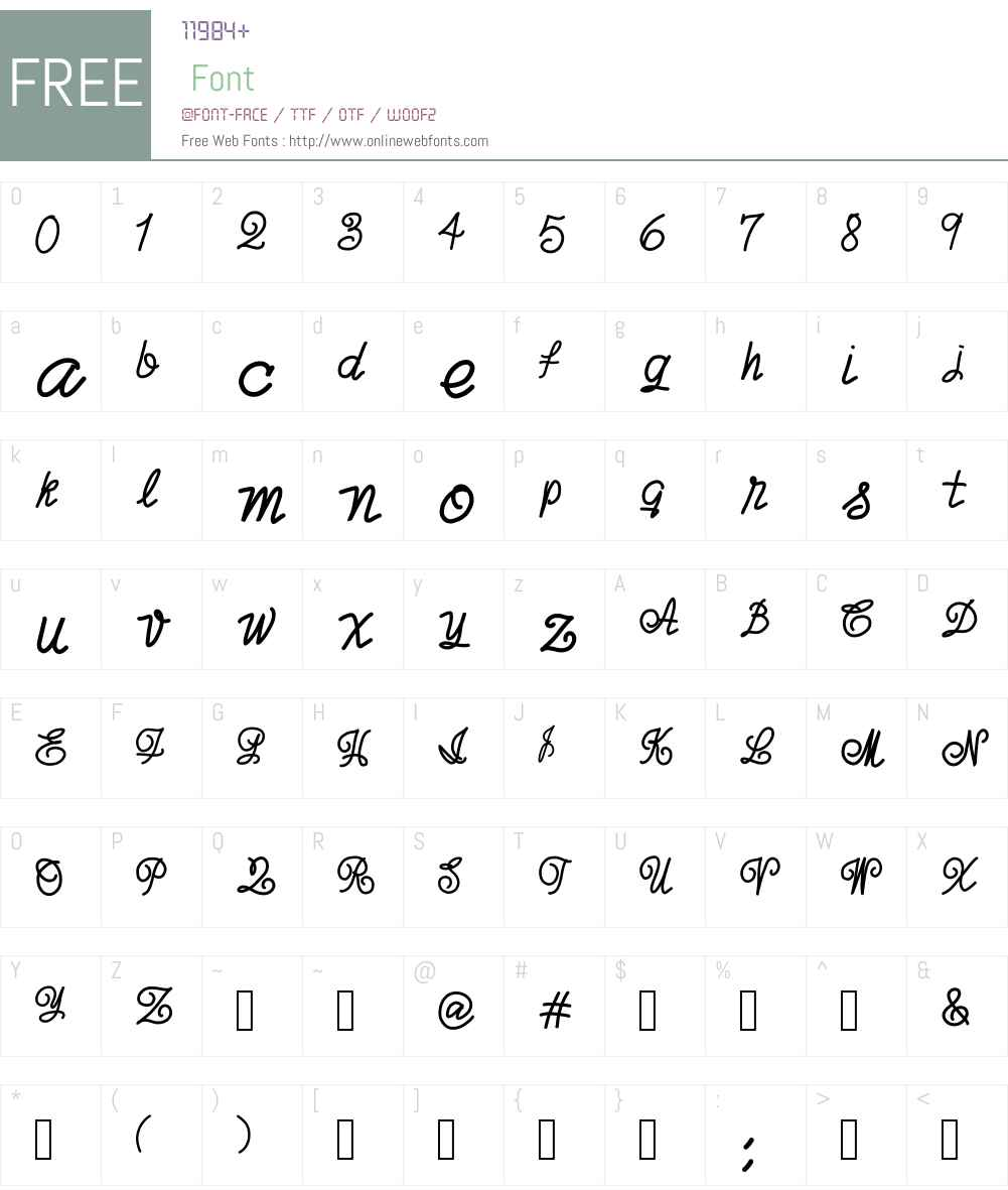 joxigraf Font Screenshots