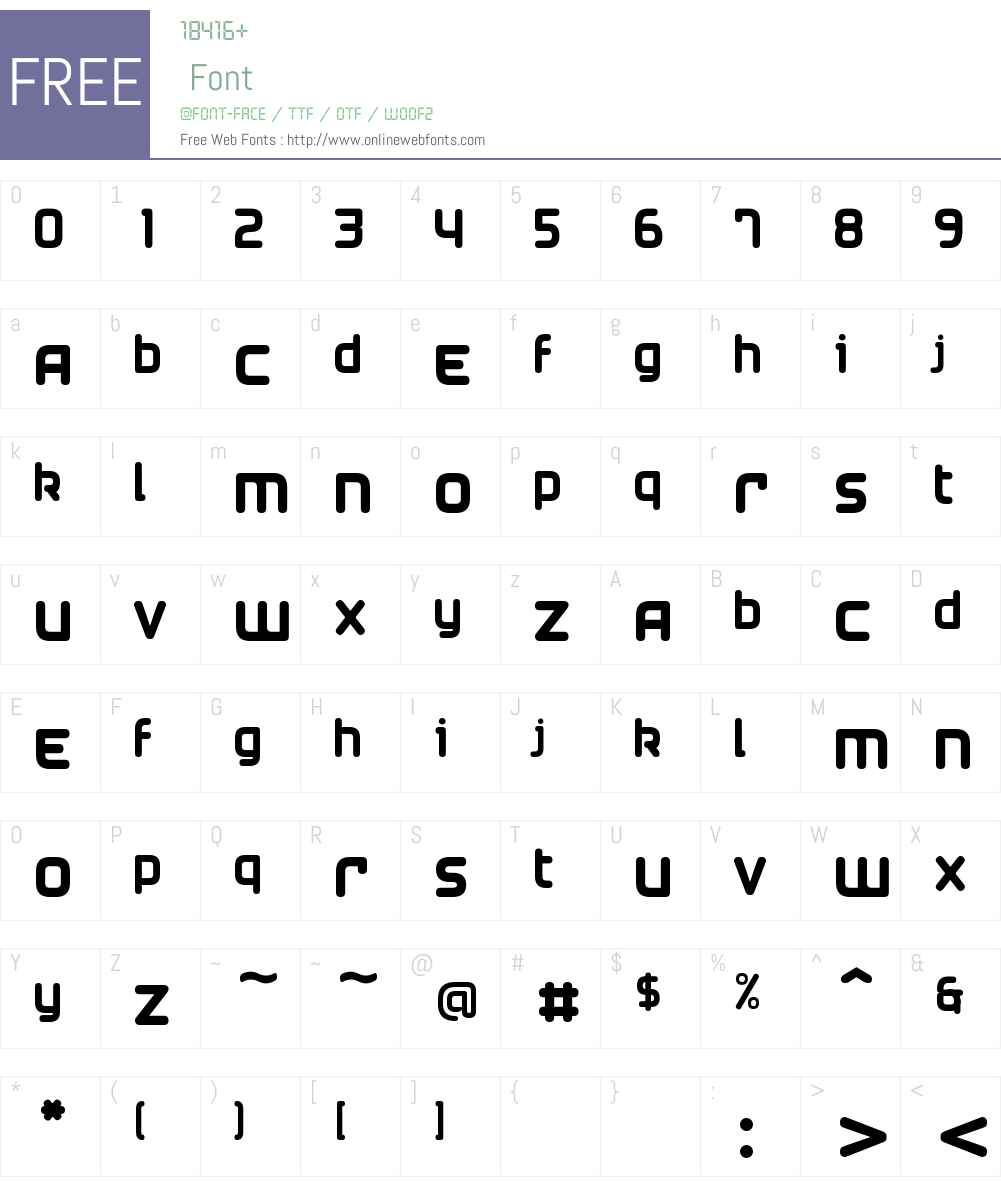 Airstrip Four Font Screenshots