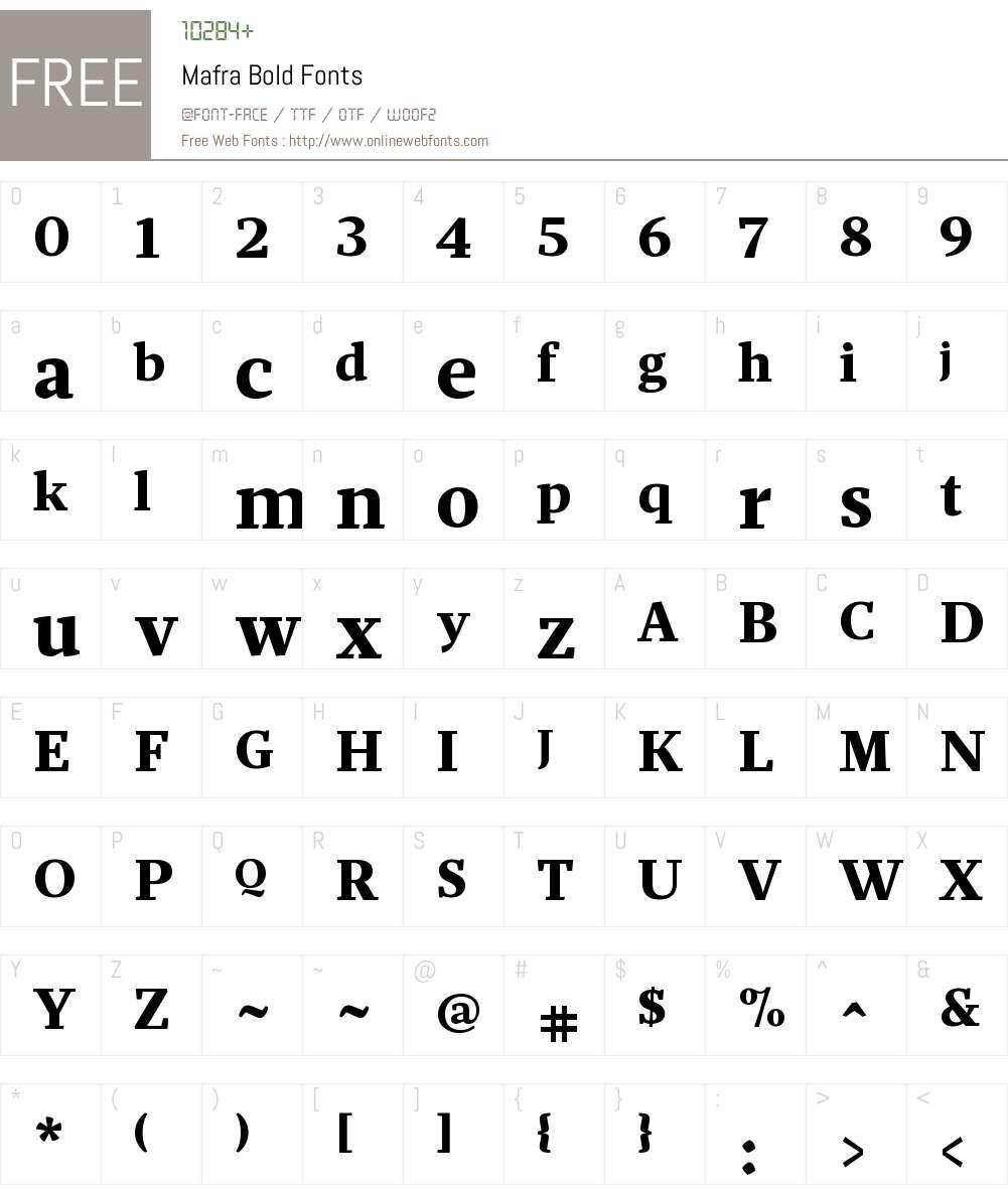 Mafra Bold Font Screenshots