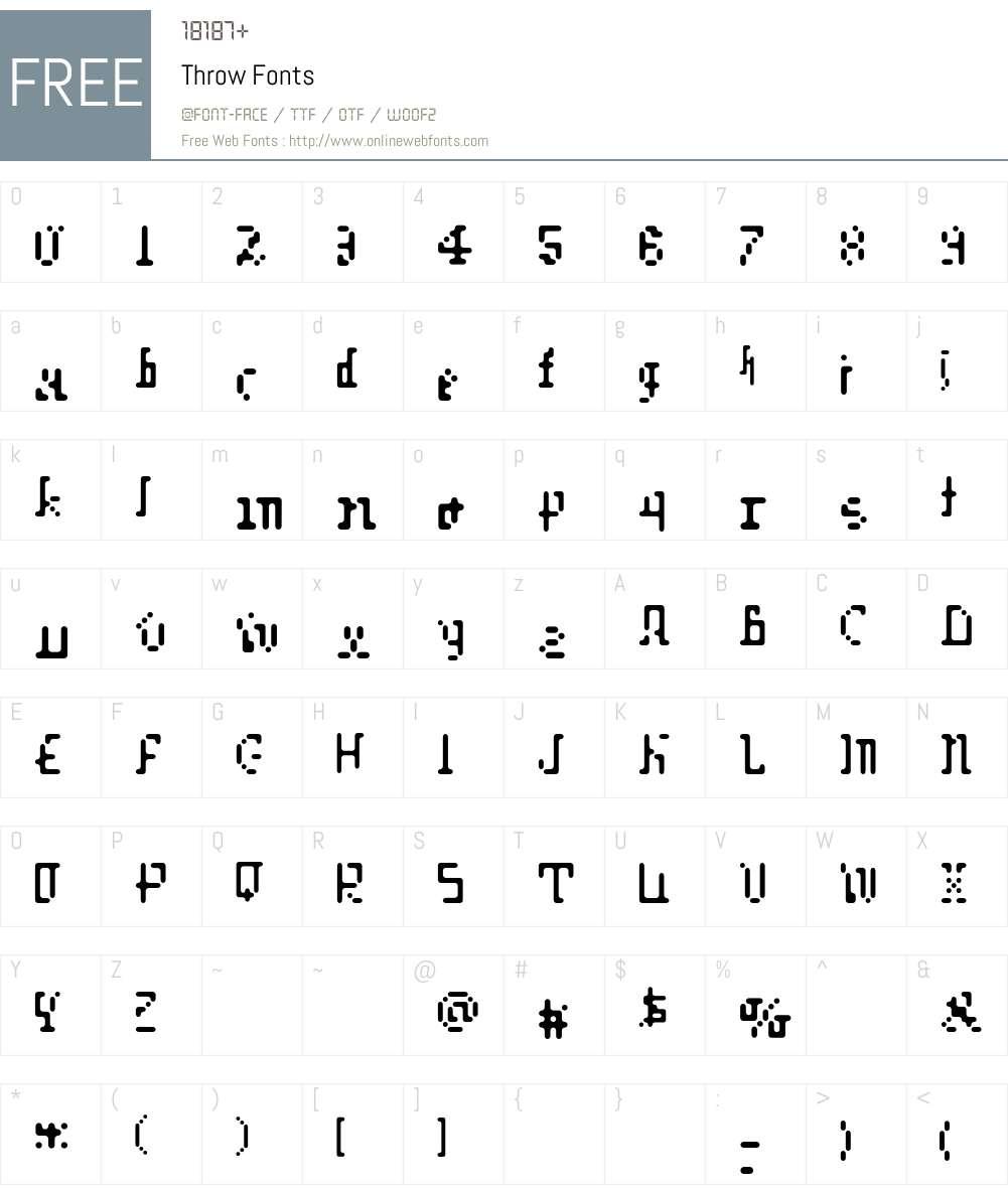 Throw Font Screenshots