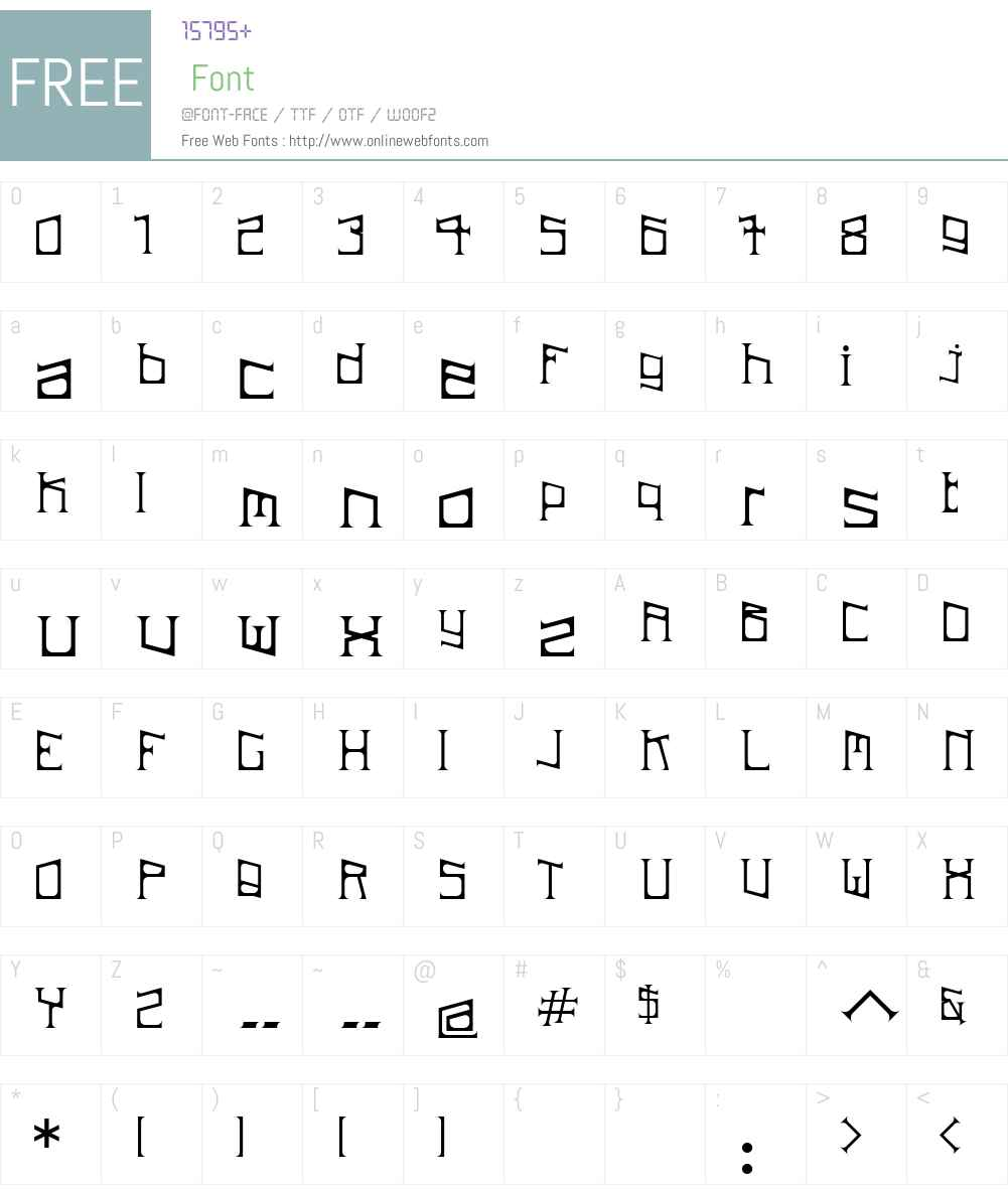 ArDeck Font Screenshots