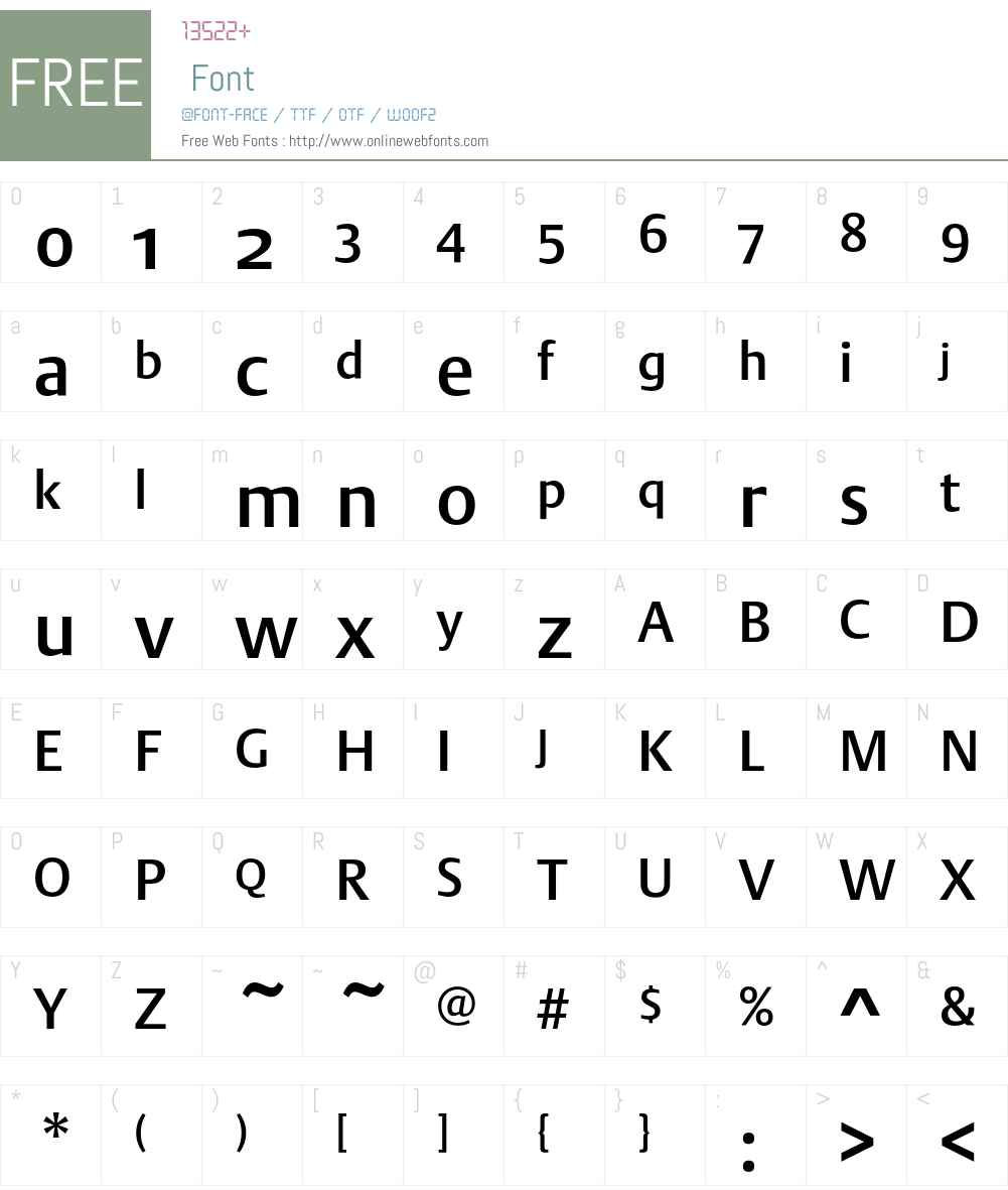DTLArgoST Font Screenshots