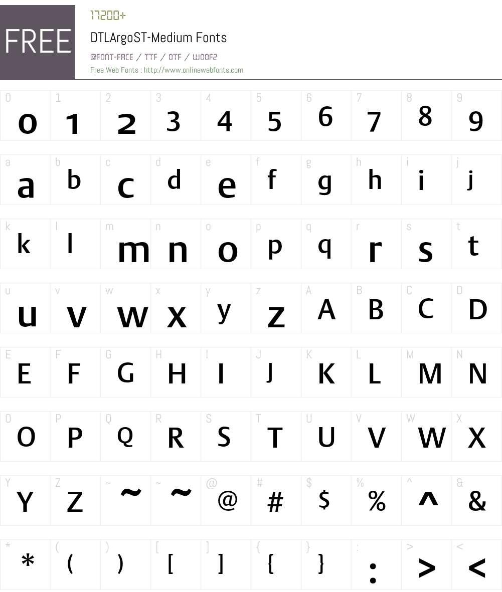 DTLArgoST Font Screenshots