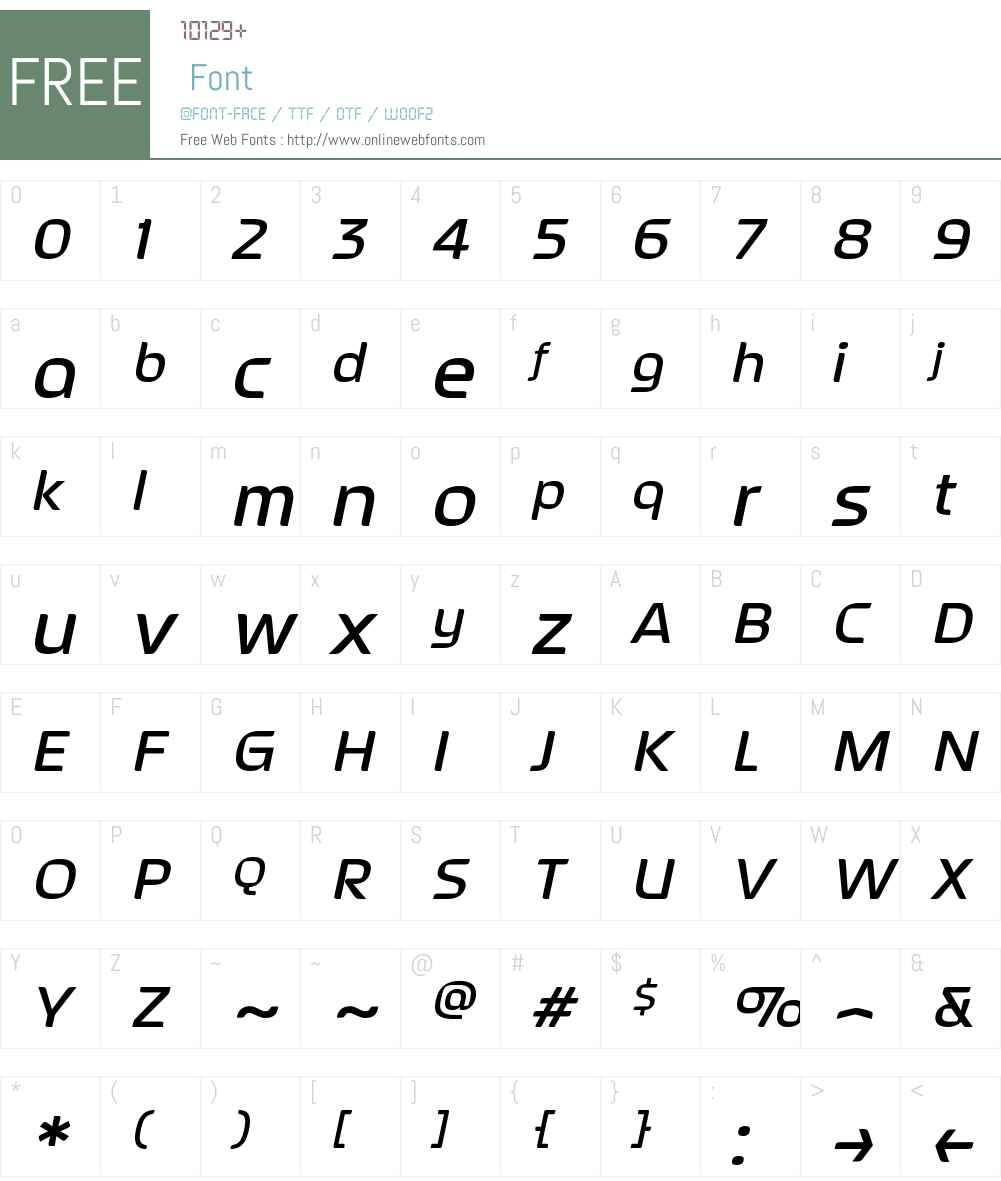 SeptemberW00-MediumItalic Font Screenshots