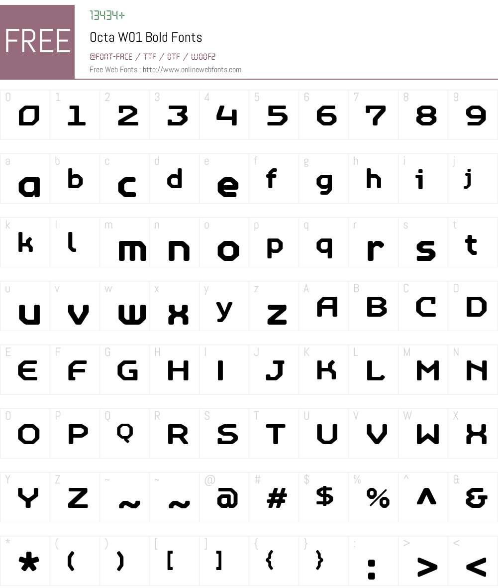 OctaW01-Bold Font Screenshots