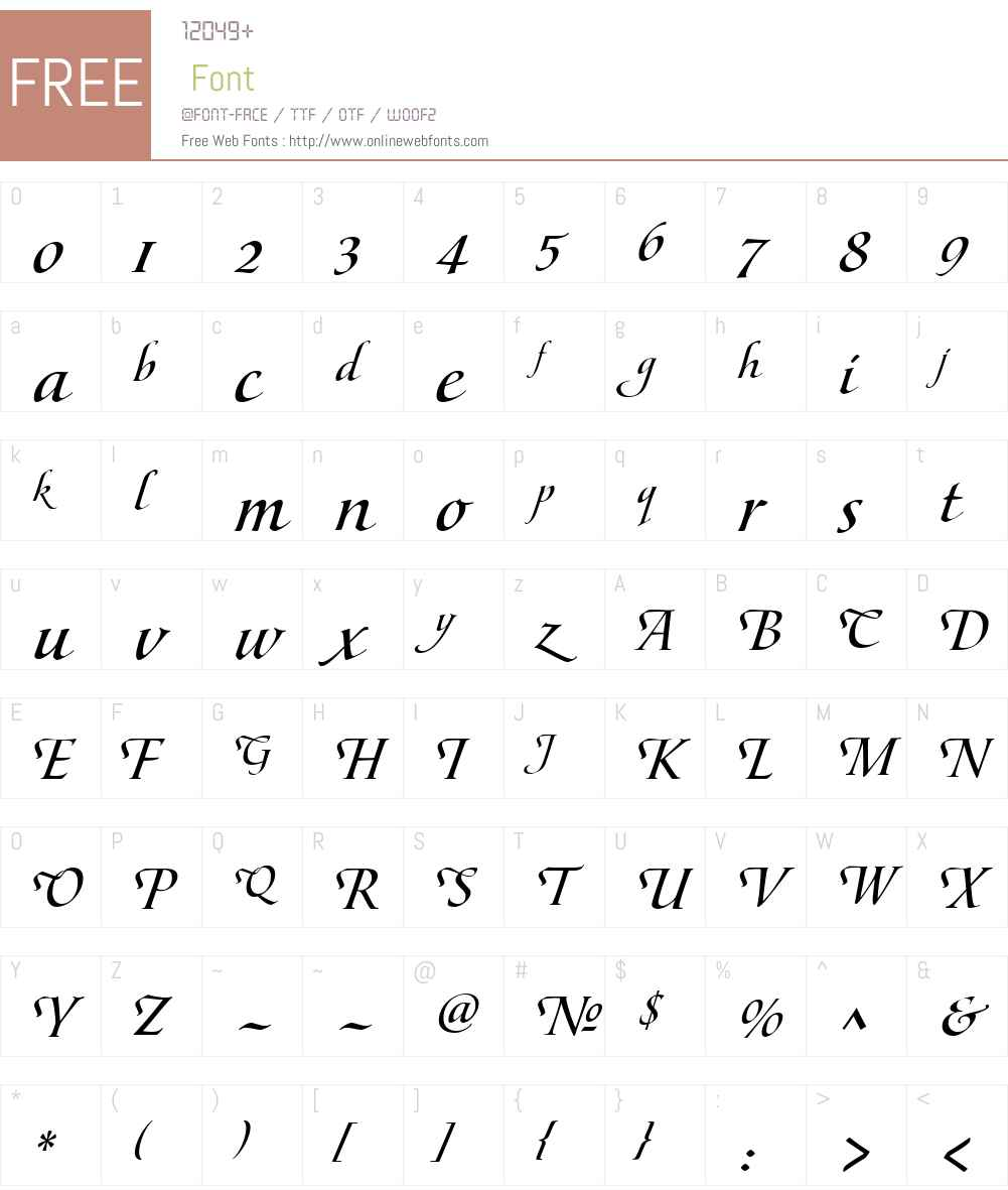 MaestroW00-MBold Font Screenshots