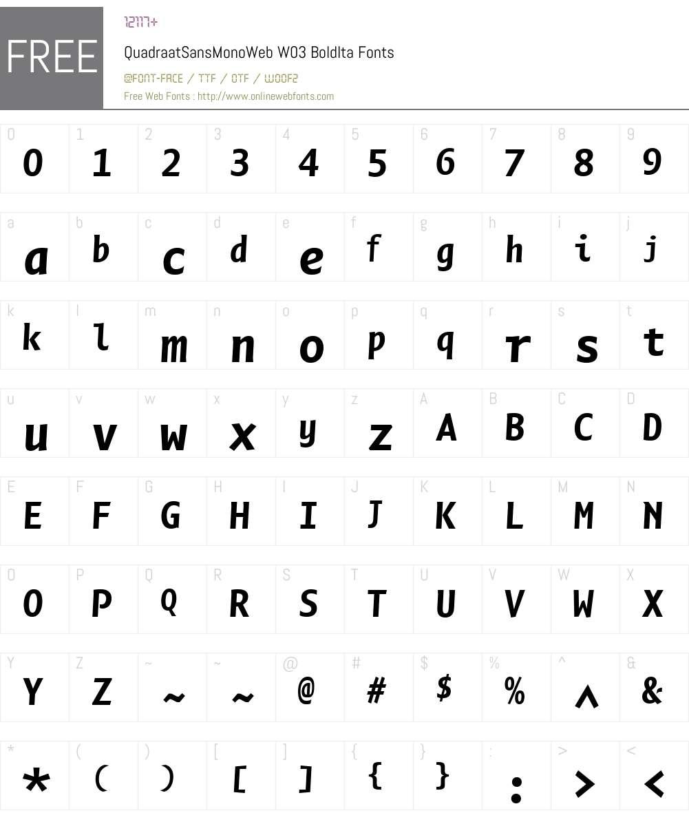 FF Quadraat Sans Mono Font Screenshots