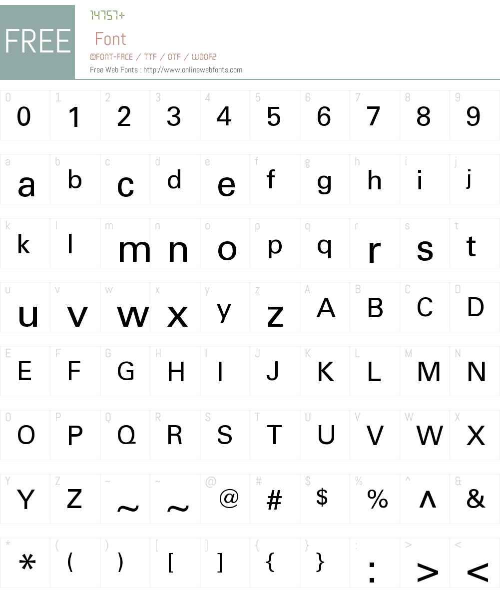 Univers Cyr Font Screenshots
