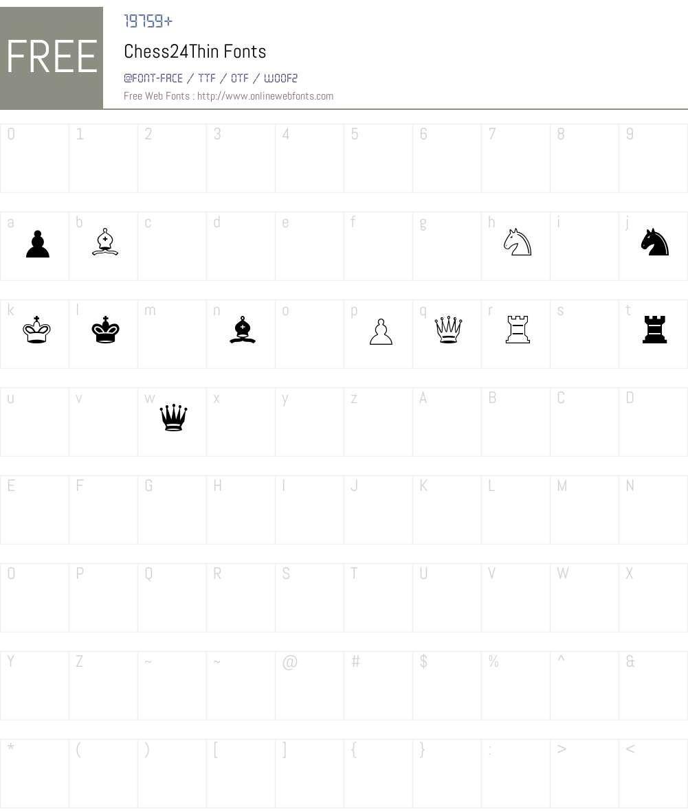 Chess24Thin Font Screenshots