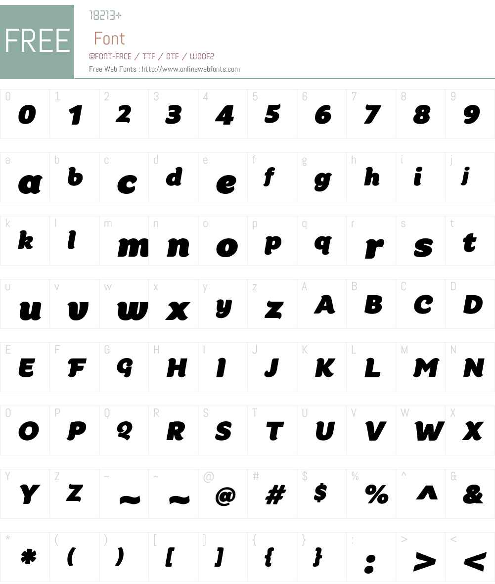 Kumiz FY Font Screenshots