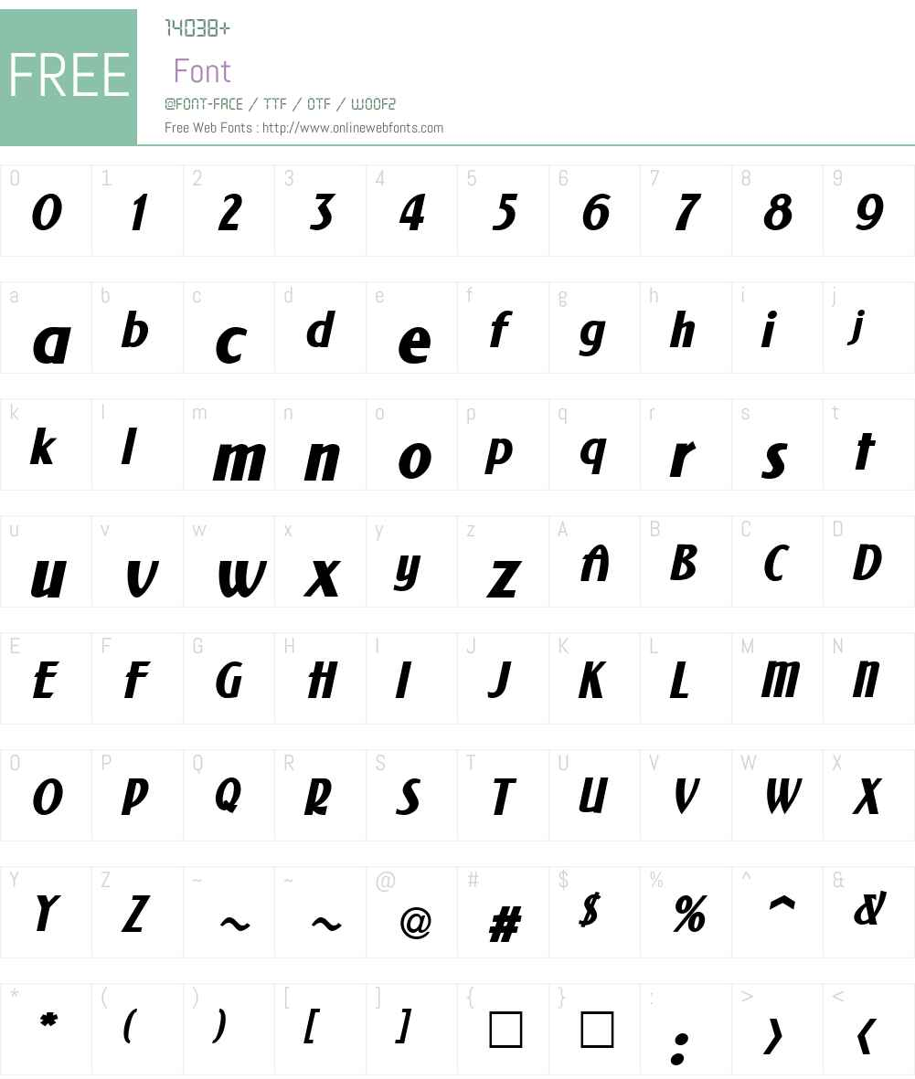 NewForum Font Screenshots