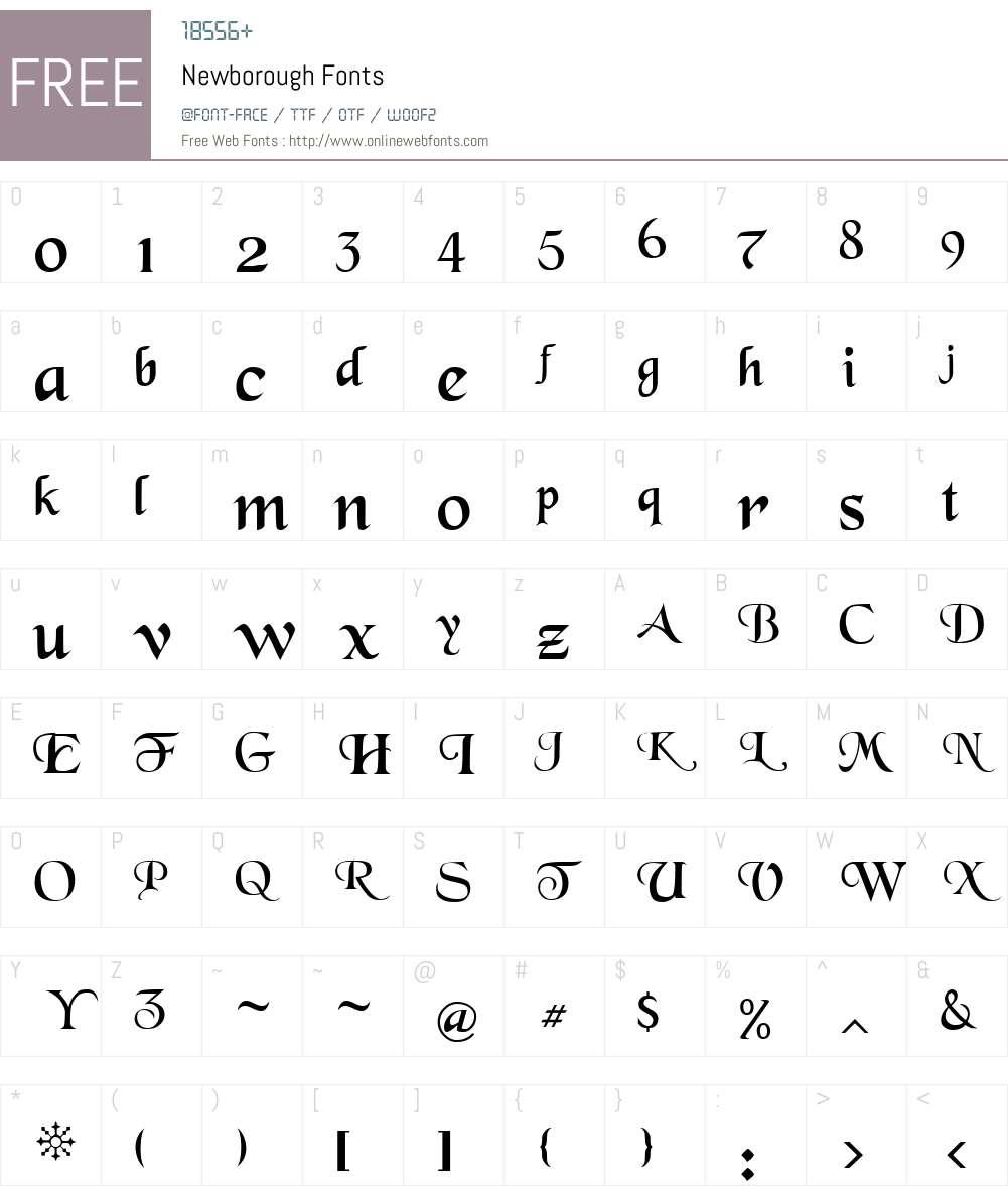 Newborough Font Screenshots
