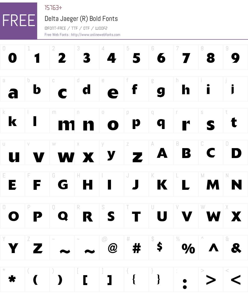Delta BQ Font Screenshots