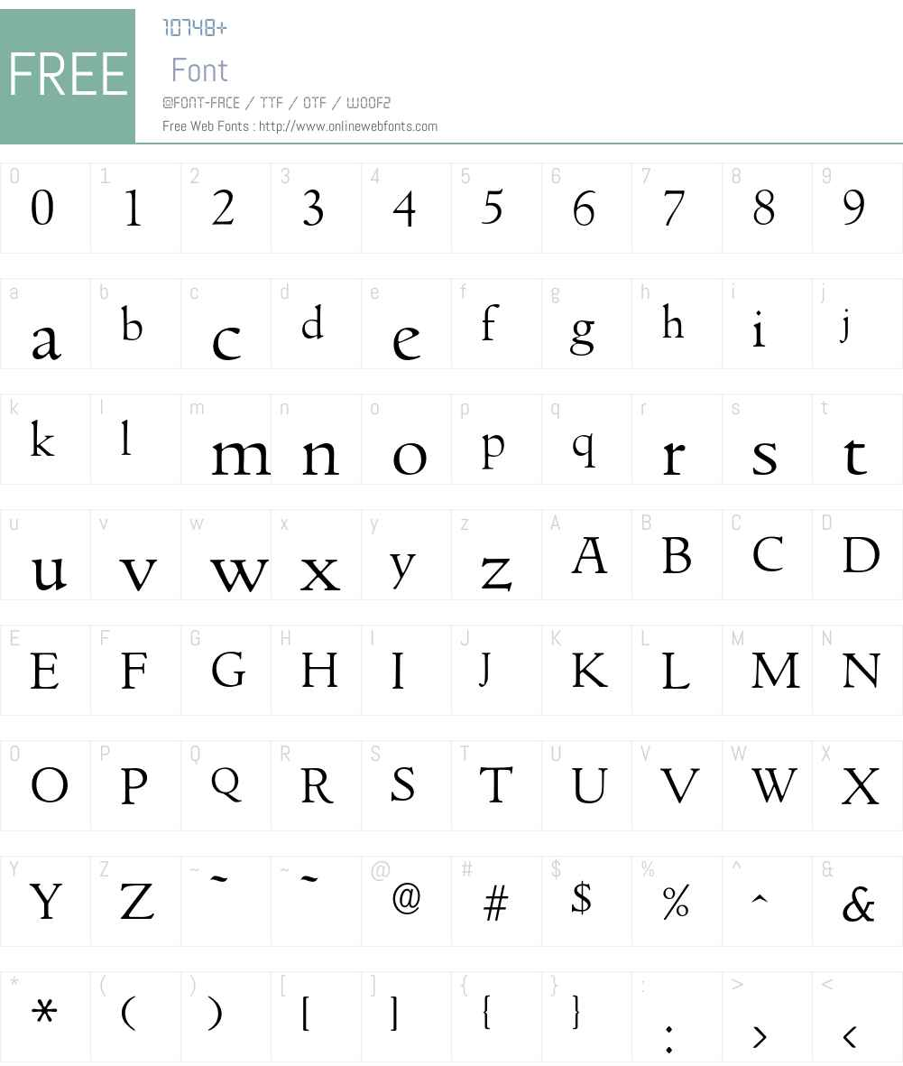 Goudita-Light Font Screenshots