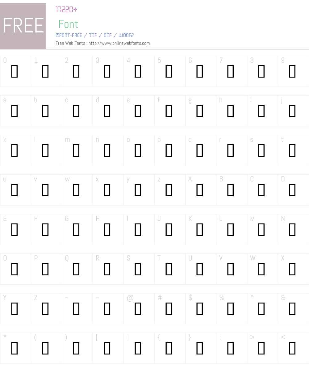 BKheads1 Font Screenshots