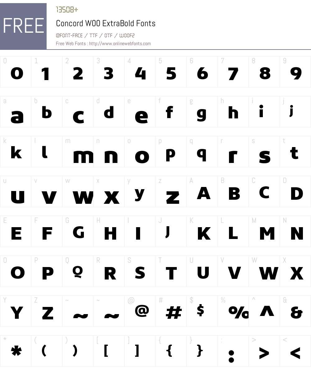 ConcordW00-ExtraBold Font Screenshots