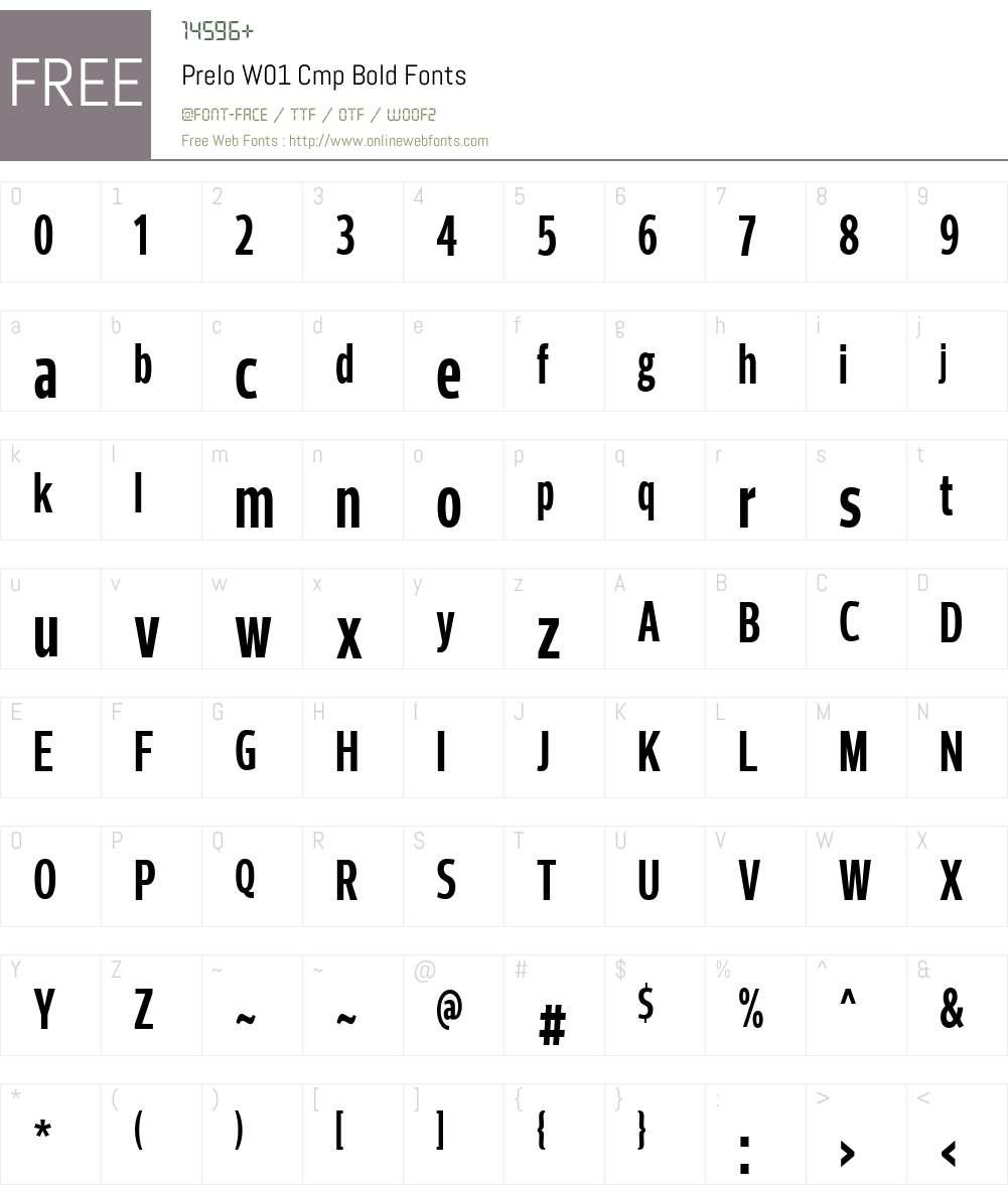 PreloW01-CmpBold Font Screenshots