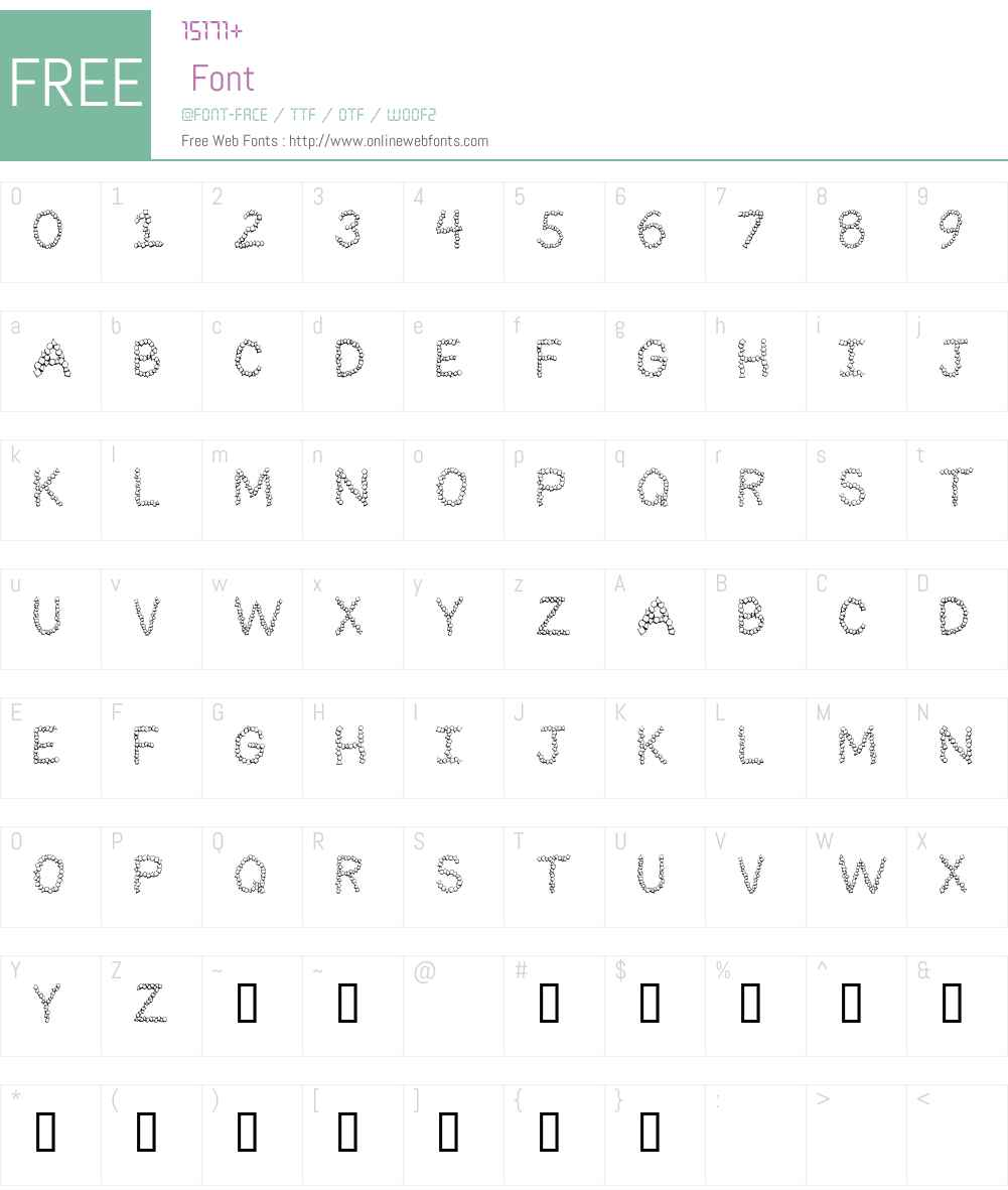 101! Confetti LetterZ Font Screenshots