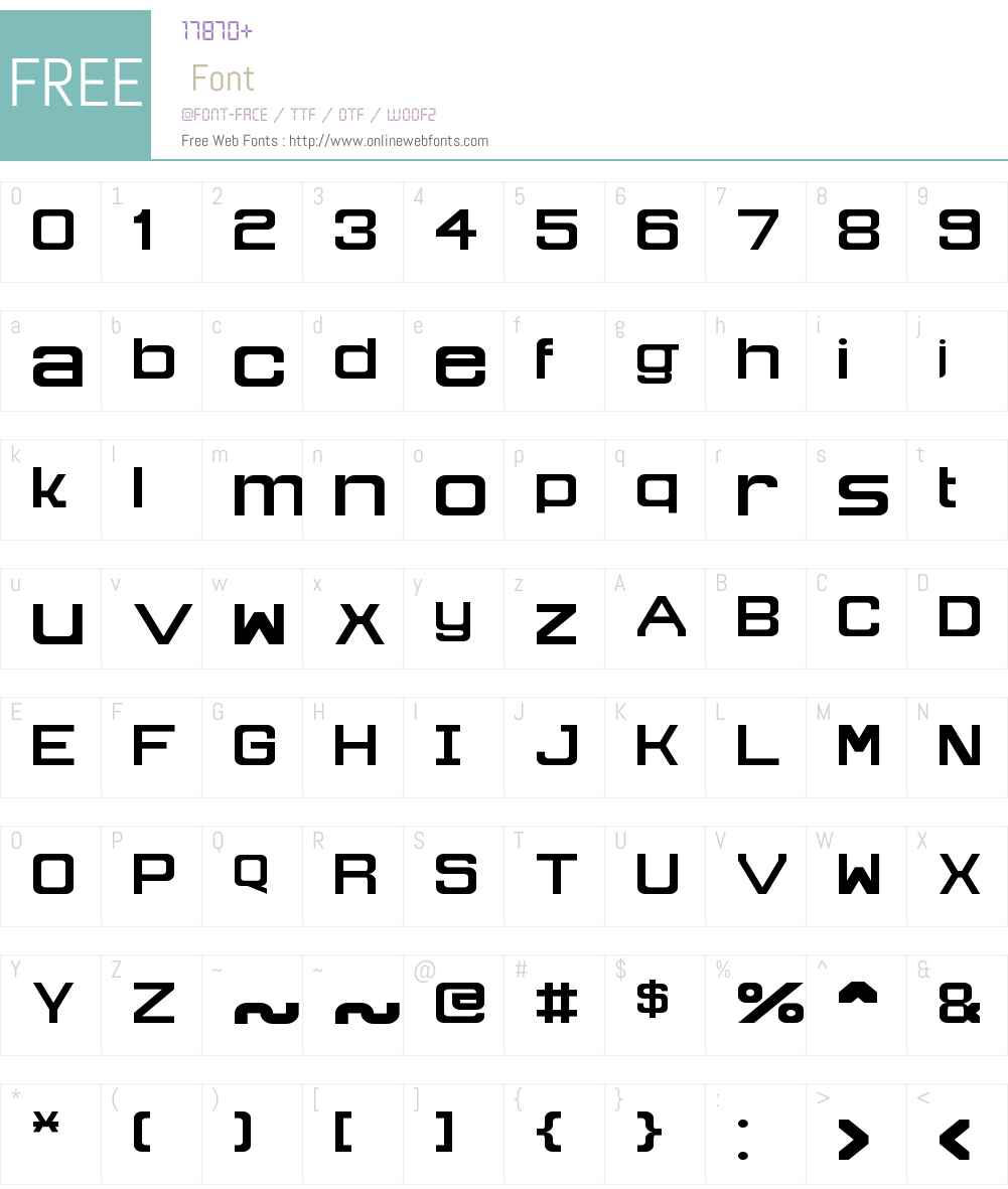 Technomite Font Screenshots
